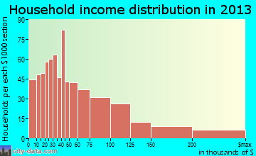 Auburn household income distribution