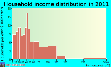 Point Roberts household income distribution