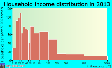 Salmon Creek household income distribution