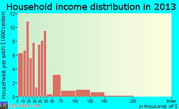 Tigerton household income distribution