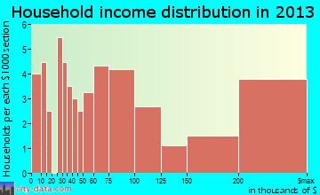 Bradbury household income distribution