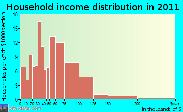 Turtle household income distribution
