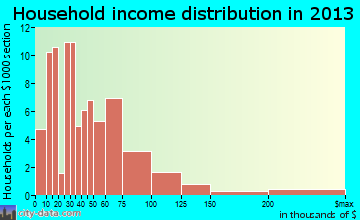 Biron household income distribution