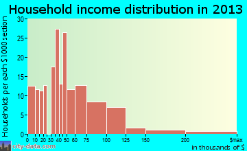 Camp Lake household income distribution