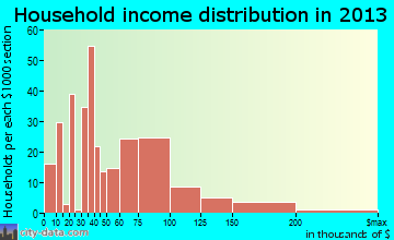 Slinger household income distribution