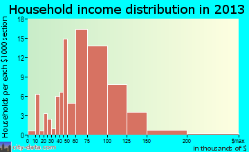 Wright household income distribution