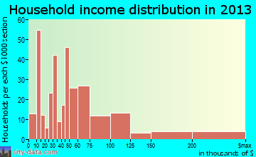 Silverthorne household income distribution