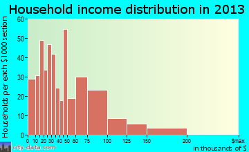 Craig household income distribution