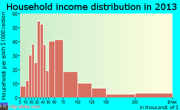 Estes Park household income distribution