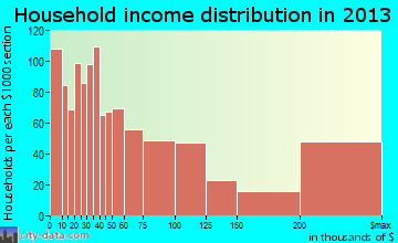 Naples household income distribution