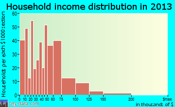 Newberry household income distribution