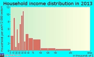 Rock Creek household income distribution
