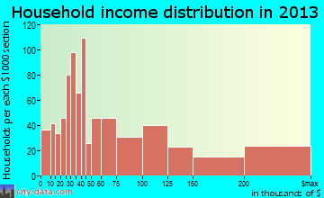 Palm Valley household income distribution