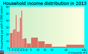South Sarasota household income distribution