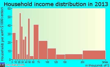 Surfside household income distribution