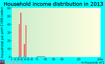 Tildenville household income distribution