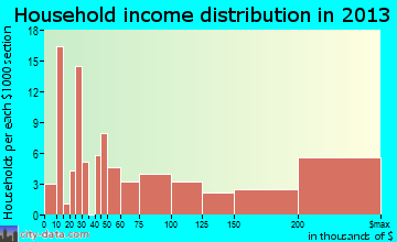 Windermere household income distribution