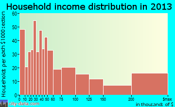 Druid Hills household income distribution
