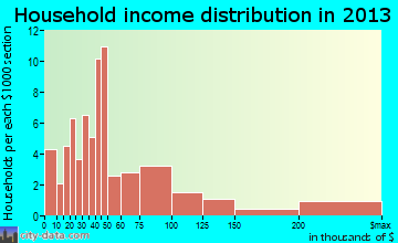 Emerson household income distribution