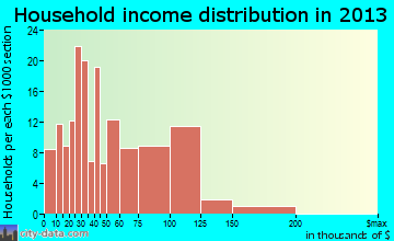 Le Roy household income distribution