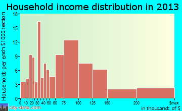 Rochester household income distribution