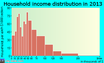 Worth household income distribution