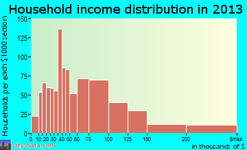 Bloomingdale household income distribution