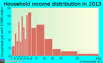 Georgetown household income distribution