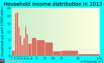 Petersburg household income distribution