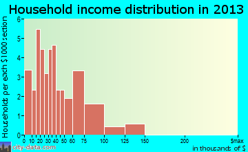 Agency household income distribution