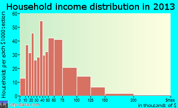 Nevada household income distribution