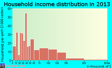 Baldwin City household income distribution