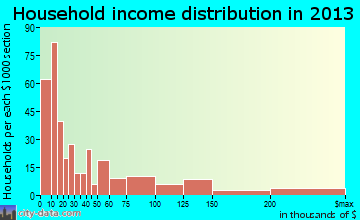 Pikeville household income distribution