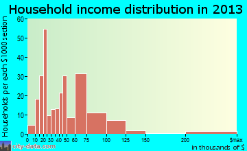 Walton household income distribution