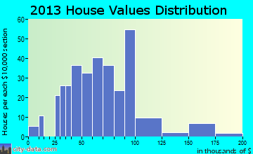 New Vineyard home values distribution
