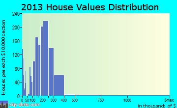 Brooklyn Park home values distribution