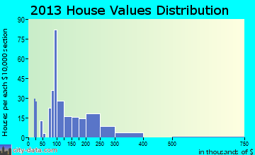 Snow Hill home values distribution