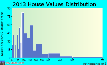 Pocomoke City home values distribution