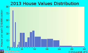 Birch Run home values distribution