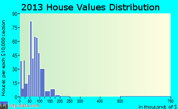 White Pigeon home values distribution
