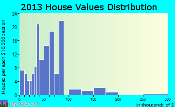 Omer home values distribution