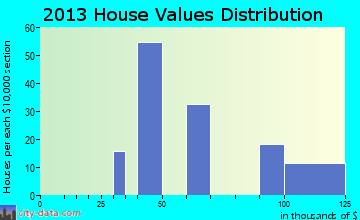 Bogue Chitto home values distribution