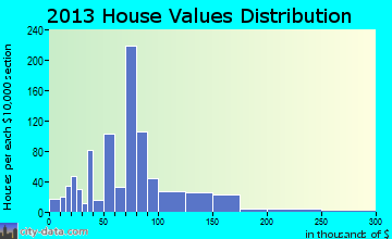 Bonne Terre home values distribution