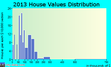 Homer home values distribution
