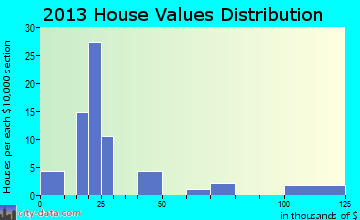Duckwater home values distribution