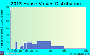 Pennington home values distribution