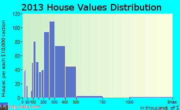 Patchogue home values distribution