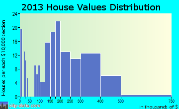 Maggie Valley home values distribution
