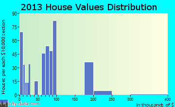 Slater-Marietta home values distribution