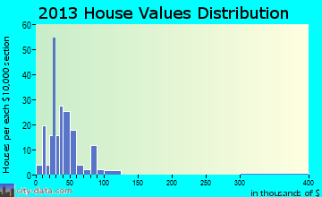 Bonesteel home values distribution